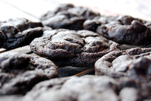 Dark Chocolate Cookies with Sour Cherries