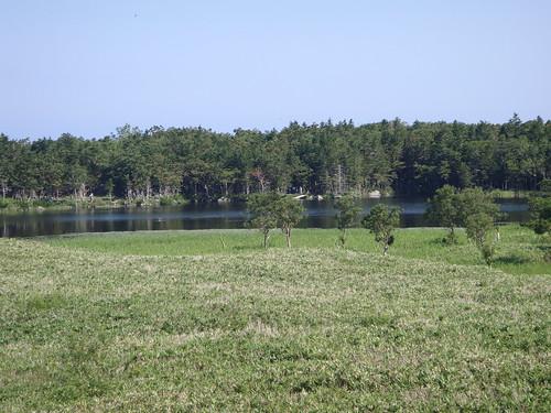 view of First lake of shiretoko-goko