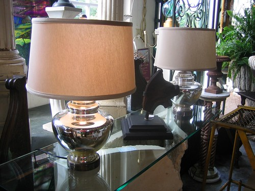 A set of lamps at Withington Antiques in York, Maine