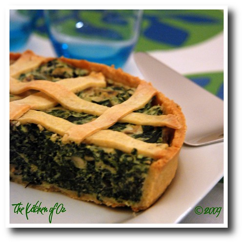 Tart with Spinach, Mushroom and Ricotta Filling