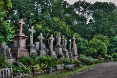 HighGate Cemetery near London in HDR (Mister Joe) Tags: uk england london art photoshop nikon joe hdr highdynamicrange d80 nikon80 londonhdr