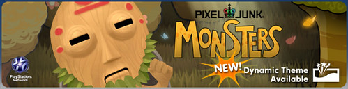 PixelJunkies Monsters Dynamic Banner
