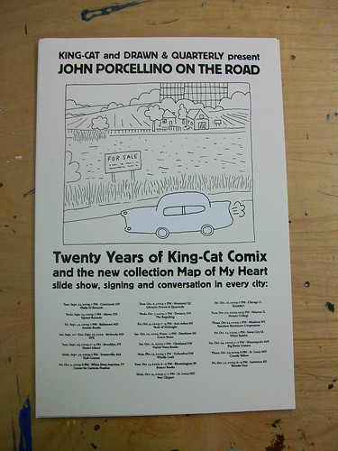 John Porcellino Book Tour Poster!