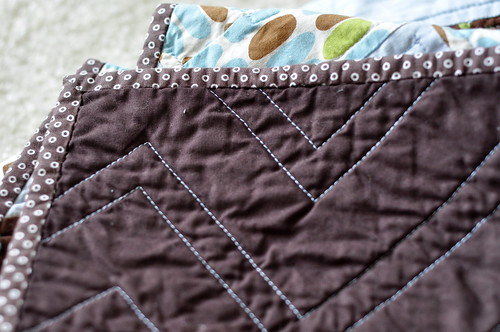 Brown & Blue Zig Zag - Binding