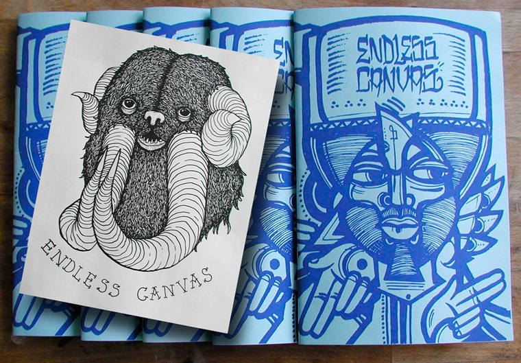 Endless Canvas Zine Issue 1 - Limited Edition Ras Terms Screen Print and Swampy Poster.