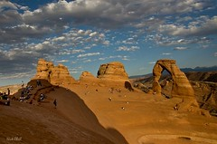 The REAL Delicate Arch (Nick Chill Photography) Tags: people clouds landscape photography desert image stock scenic tourists explore archesnationalpark delicatearch dx uncensored thetruth worldtrekker nickchill photocontesttnc09 1galleries