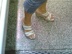 Woman look me (blackpearl883) Tags: woman sexy feet toes long mature sandal toenails