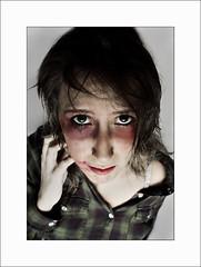 NO al maltrato (Lucía López) Tags: portrait canon hit blood mujer retrato crying anger lucia soledad lopez sangre dolor helpless maltrato suffer sufrimiento rabia llanto pegar indefensa 1000d