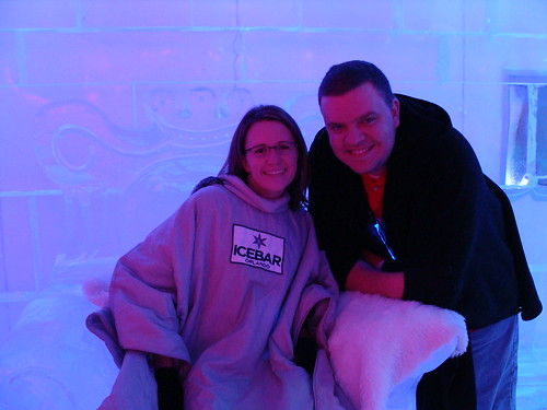 Sitting in ice chair with Buck