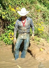 53 WS Yea, I admit excited wallowing in mud dudes! (wranglerswimmer) Tags: wet cowboy wranglers swimmingfullyclothed guysinwetjeans wetcowboy wetwranglerjeans