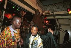 Mac Tontoh Project from Ghana at the Africa Centre London July 2001 055 (photographer695) Tags: world africa from 2001 music london mac african centre band july jazz ghana warriors ashanti kete trumpeter amanas osibisa tontoh nanaeba exosibisa