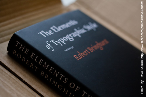#1 The Elements of Typography Style by Robert Bringhurst