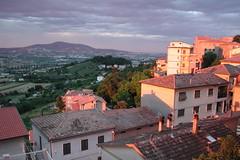 Scorcio del Conero al tramonto (- Marco Sacchi -) Tags: sunset sky landscape tramonto cielo epson paesaggio photopc 3000z
