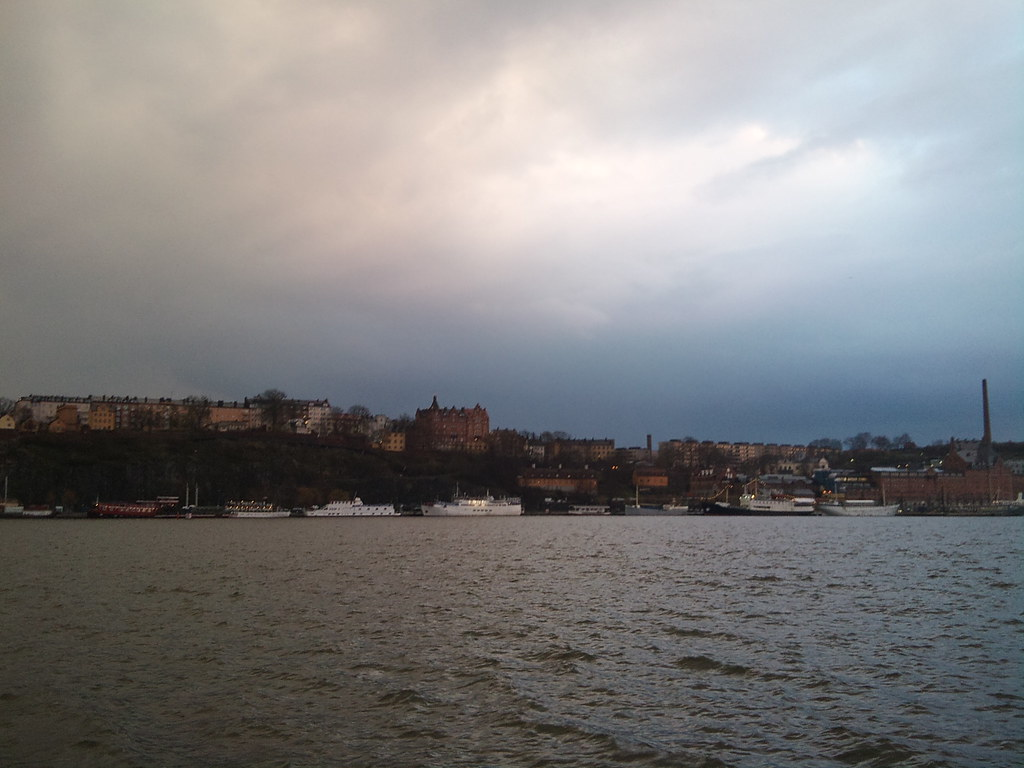 Sunset in the rain over Stockholm City Hall - 5