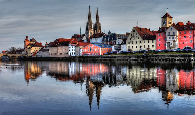 Regensburg at the River Danube