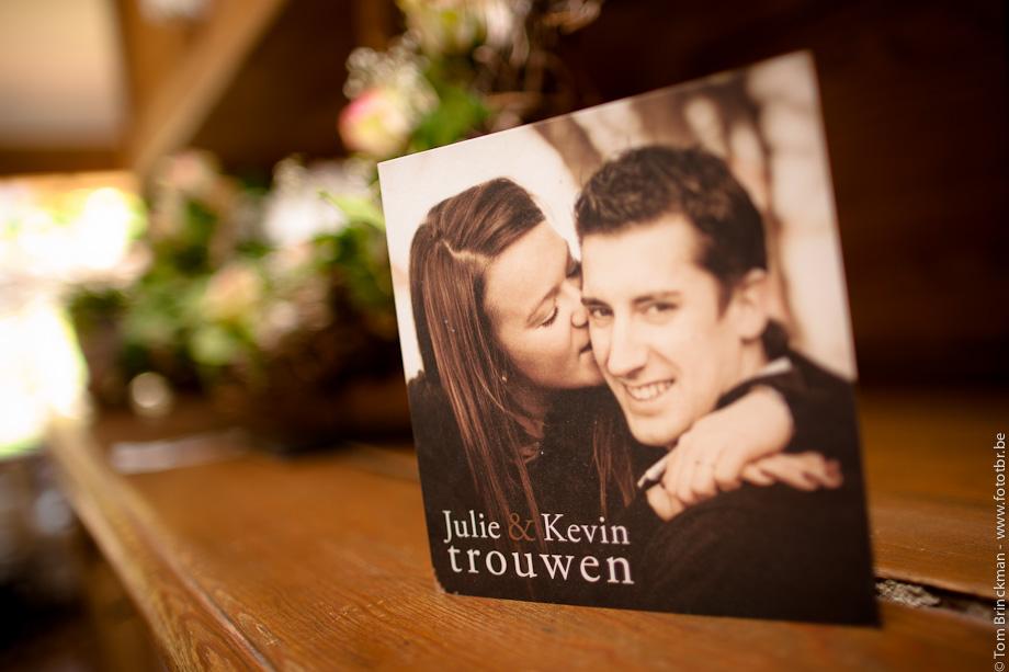 Huwelijk Julie en Kevin