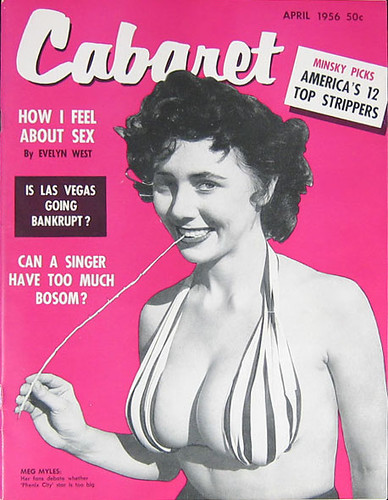 Meg Myles .. Cabaret Magazine - April 1956 ...item 2.. FSU News - The spring break cleanse (Mar. 19, 2014) ...item 3.. Meg Myles Biography ...