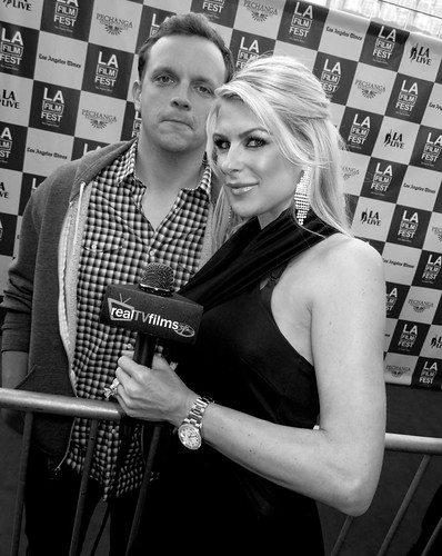 director david fine   jennifer lexon bernie movie premiere  opening night la