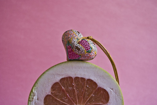 Heart on grapefruit