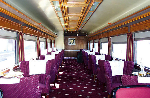 Private Rail Car - Greenwich Harbor, Lounge Parlor Dining, interior
