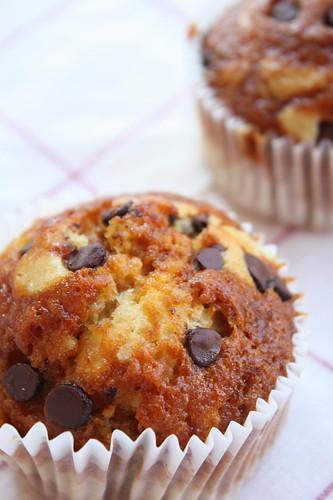 caramel marble muffin