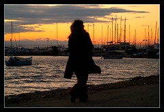 sunset walk (maios) Tags: travel sunset sky water greek photo europa flickr tramonto photographer hellas greece macedonia thessaloniki fotografia salonica manikis maios iosif   heliography                iosifmanikis