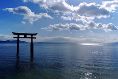 Song of God (nene-aneON - OFF)) Tags: blue nature japan landscape shrine shinto rs pictureperfect myajima mywinners worldbest fujifilmfinepixs5pro amazingamateur theunforgettablepictures goldstaraward tup2 absolutelystunningscapes flickrclassique musicsbest