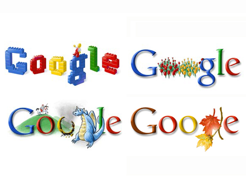Above are four of my favourite Google logo graphics from the past year.