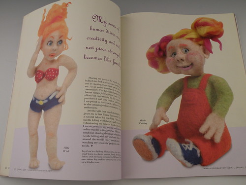 My dolls in Art Doll Quarterly