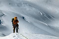 A windy moment (radson1) Tags: newzealand glacier climbing alpine mountaineering southernalps alpinism alpineclimbing tasmansaddle radson