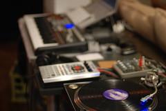 zonabi studio (musicismymedicine) Tags: music records apple studio book mac dj vinyl technics sp 49 rig roland pro production 1210 setup 404 audio akai mpk