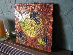 light through the glass (Poppins Mosaics and Crafts) Tags: tile gems grape tg milliefiori
