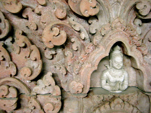 Detail of relief at Cambodian Association of Illinois headquarters in Chicago.