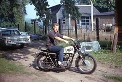 1966 Triumph Bonneville Motorcycle, 1967 (63vwdriver) Tags: vintage connecticut ct 1966 triumph motorcycle bonneville enfield