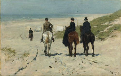 Paseo a caballo por la mañana en la playa_Anton Mauve