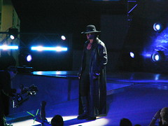 The Undertaker approaches