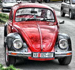 VW (RenatoD) Tags: auto red black rot car vw bug 10 5 beetle 500v50f 25 600 400 200 100 300 500 50 700 75 800 schwarz hdr wagen overtheexcellence