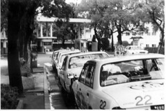 Lucky Row (hammrib) Tags: blackandwhite japan taxicabs