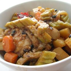 Braised Bitter Gourd Chicken II