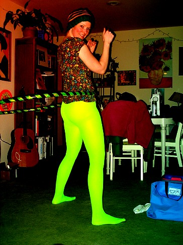 neon tights