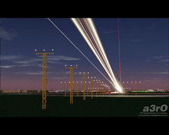 Rays of light (a3rO) Tags: england london heathrow runway lhr fs2004 fs9 egll aerosoft