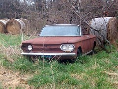 Chevrolet Corvair cira 1960 (proudnamvet........Patriot Guard Riders) Tags: abandoned overgrown rural decay