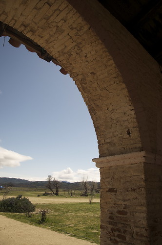 The original burnt brick arches are still standing. And the countryside is pretty much unchanged from Padre days.