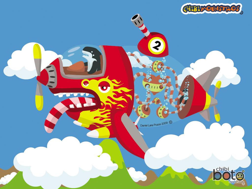 Chibiballena roja voladora