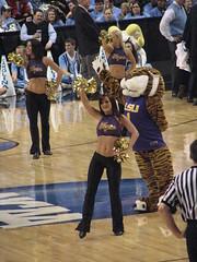 LSU Tiger Girls (SneakinDeacon) Tags: acc cheerleaders dancers sec ncaa unc tarheels marchmadness lsutigers collegebaskeball