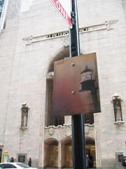 Saro (EMENFUCKOS) Tags: street people lighthouse chicago streets stpeters art church walking stencil board collab bolt dowtown watchtower saro mirian vz