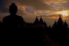 Borobadur At Dawn (El-Branden Brazil) Tags: sunrise indonesia temple dawn java asia southeastasia buddha buddhist religion buddhism mysterious mystical indonesian javanese borobadur