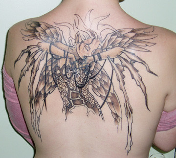 rising tattoo from artwork