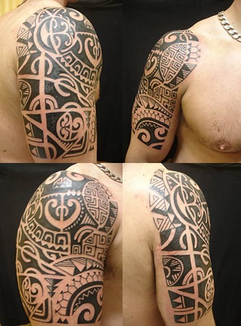 tatuagem.polinesia.maori. kirituhi .tattoo braco.Lady Gaga by Tatuagem Polinesia - Tattoo Maori