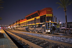 A Belle Awaiting (K-Szok-Photography) Tags: california night canon nightimages nightshot socal nights nightshots canondslr fullerton locomotives railroads kcs fullertoncalifornia alltrains sd70ace canon1740f4lusmgroup californiafullerton alltypesoftransport kenszok